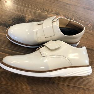 Cole Haan Grand Evolution cream patent shoes
